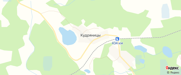 Карта деревни Кудряницы в Псковской области с улицами и номерами домов