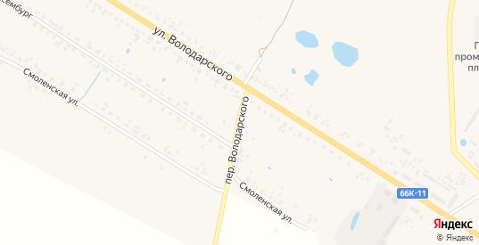 Переулок Володарского в Велиже с номерами домов на карте. Спутник и схема онлайн