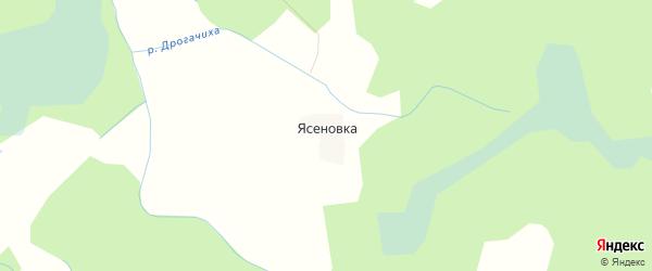 Карта деревни Ясеновки в Псковской области с улицами и номерами домов