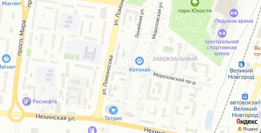 Линейная улица в Великом Новгороде с номерами домов на карте. Спутник и схема онлайн