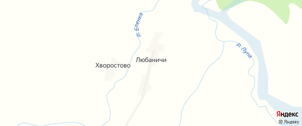 Карта деревни Любаничей в Смоленской области с улицами и номерами домов