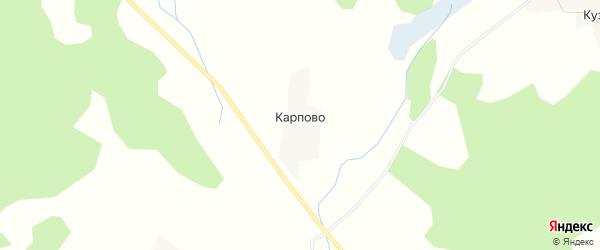 Карта деревни Карпово в Псковской области с улицами и номерами домов