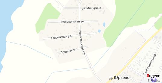Улица Монастырская улица в деревне Юрьево в Новгородской области с номерами домов на карте. Спутник и схема онлайн