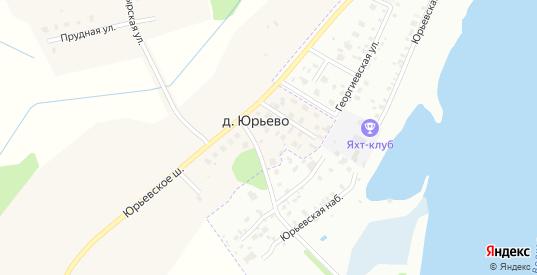 Словенская улица в деревне Юрьево в Новгородской области с номерами домов на карте. Спутник и схема онлайн