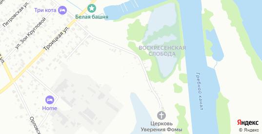 Территория Воскресенская слобода в Великом Новгороде с номерами домов на карте. Спутник и схема онлайн