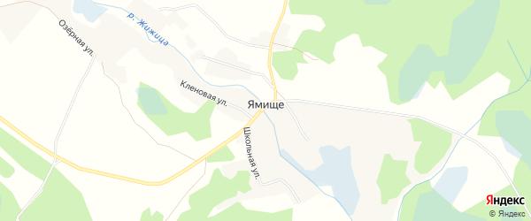 Карта деревни Ямища в Псковской области с улицами и номерами домов