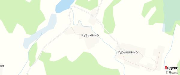Карта деревни Кузьмино в Псковской области с улицами и номерами домов