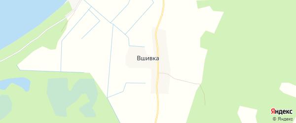 Карта деревни Вшивки в Псковской области с улицами и номерами домов