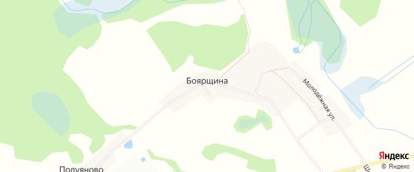 Карта деревни Боярщина (Титовщинское с/пос) в Смоленской области с улицами и номерами домов
