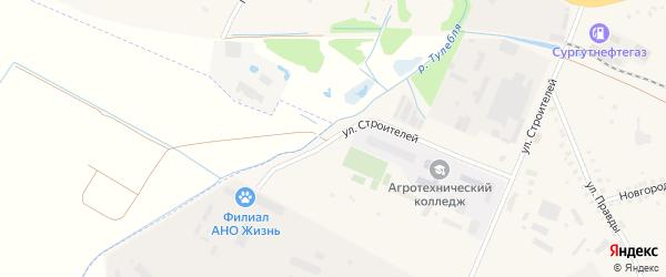 Улица Строителей на карте Старой Руссы с номерами домов