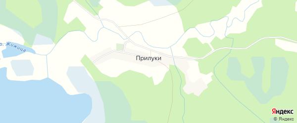 Карта деревни Прилук в Псковской области с улицами и номерами домов