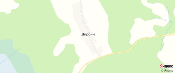 Карта деревни Широни в Псковской области с улицами и номерами домов
