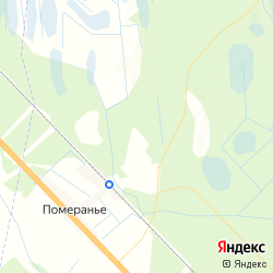 Участок в СНТ «Ручеёк» вблизи посёлка Померанье на карте