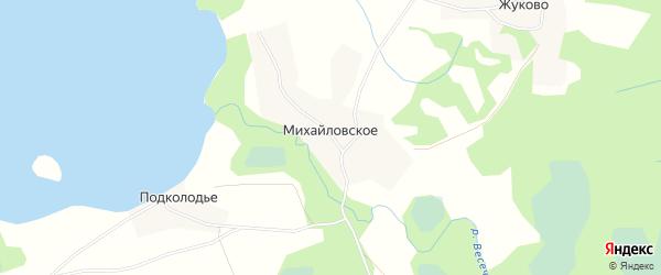 Карта деревни Михайловского в Псковской области с улицами и номерами домов
