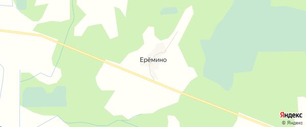 Карта деревни Еремино в Псковской области с улицами и номерами домов