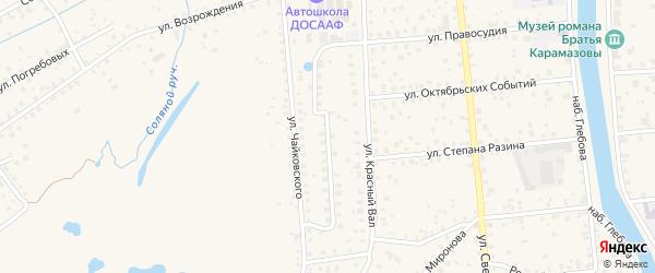 Красногвардейская улица на карте Старой Руссы с номерами домов