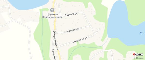 Озерная улица на карте деревни Жижицы Псковской области с номерами домов