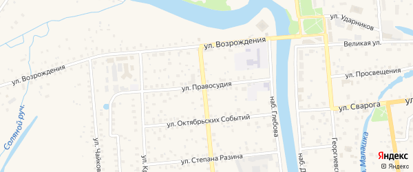 Улица Правосудия на карте Старой Руссы с номерами домов