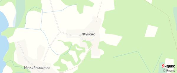 Карта деревни Жуково в Псковской области с улицами и номерами домов