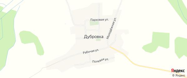 Карта деревни Дубровки в Смоленской области с улицами и номерами домов