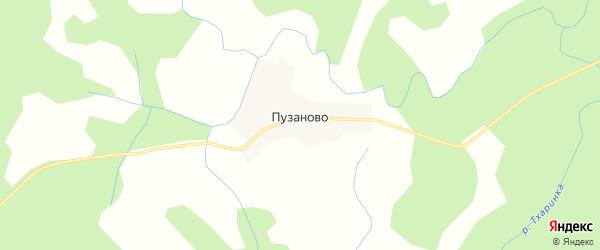 Карта деревни Пузаново в Псковской области с улицами и номерами домов