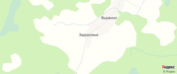 Карта деревни Задорожье в Псковской области с улицами и номерами домов