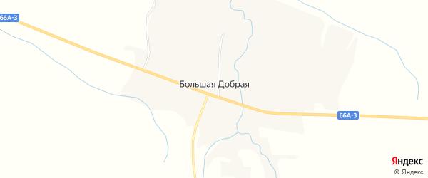 Карта Большей Доброй деревни в Смоленской области с улицами и номерами домов