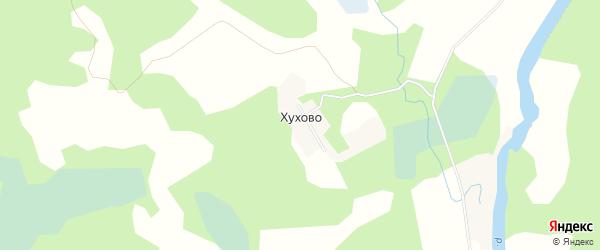 Карта деревни Хухово в Псковской области с улицами и номерами домов