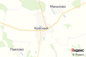 Карта пгт Красный Смоленская область