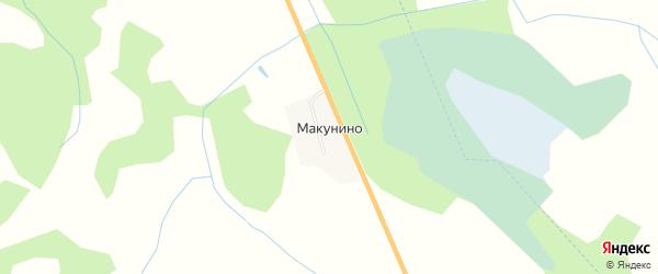 Карта деревни Макунино в Смоленской области с улицами и номерами домов