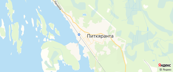Карта Питкяранты с районами, улицами и номерами домов