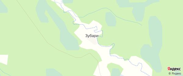 Карта деревни Зубари в Псковской области с улицами и номерами домов