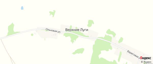Ольховая улица на карте деревни Верхние Луги Смоленской области с номерами домов