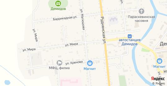 Улица Мира в Демидове с номерами домов на карте. Спутник и схема онлайн