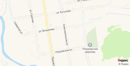 Комсомольская улица в Демидове с номерами домов на карте. Спутник и схема онлайн