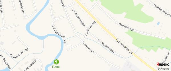 Гаевский переулок на карте Демидова с номерами домов
