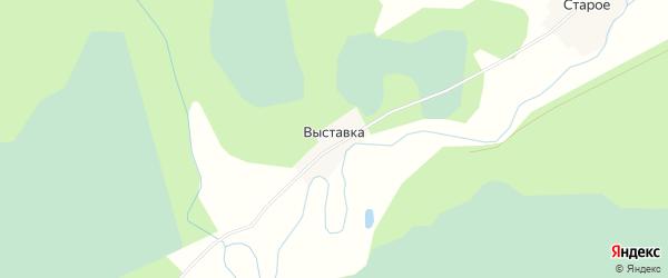 Карта деревни Выставки в Новгородской области с улицами и номерами домов