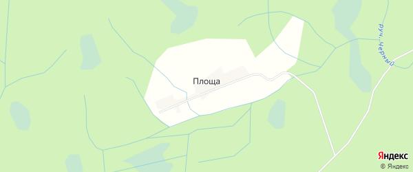 Карта деревни Площи в Тверской области с улицами и номерами домов