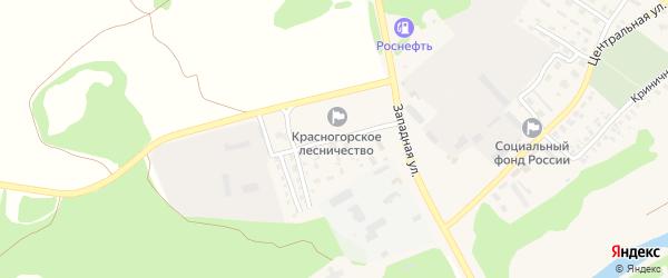 Мелиоративная улица на карте поселка Красной Горы Брянской области с номерами домов