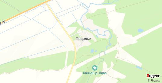 Карта деревни Подолье в Ленинградской области с улицами, домами и почтовыми отделениями со спутника онлайн
