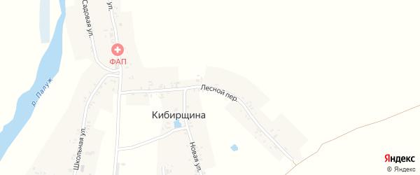 Лесной переулок на карте деревни Кибирщины с номерами домов