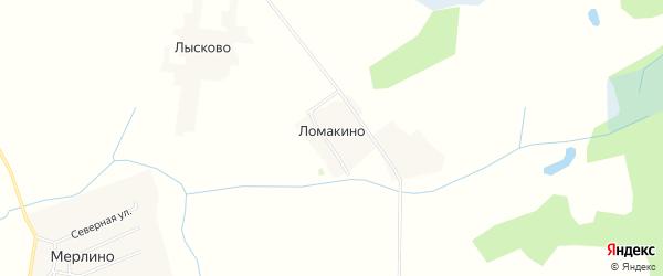 Карта деревни Ломакино в Смоленской области с улицами и номерами домов