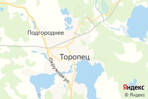 Карта г. Торопец