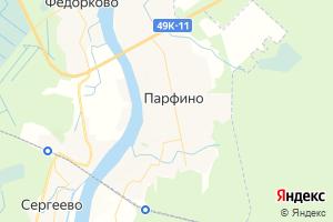 Карта пос. Парфино Новгородская область