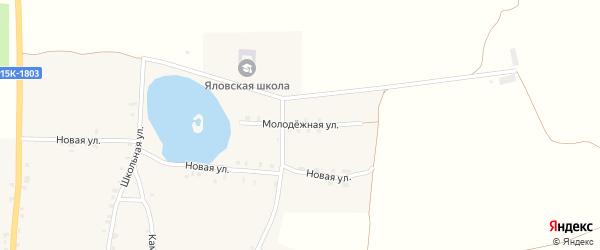 Молодежная улица на карте села Яловки Брянской области с номерами домов