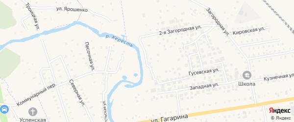 Береговая улица на карте Чудово с номерами домов