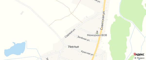 Садовая улица на карте села Увелье с номерами домов