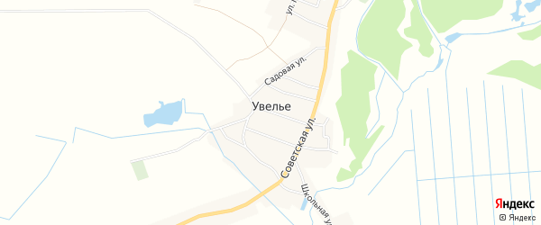 Карта села Увелье в Брянской области с улицами и номерами домов