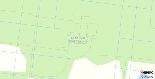 Карта поселка Рабочий 3-й в Ленинградской области с улицами, домами и почтовыми отделениями со спутника онлайн