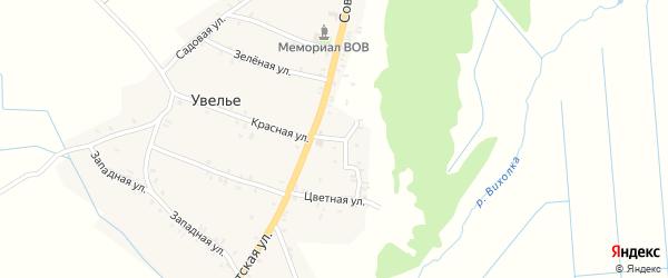 Восточная улица на карте села Увелье с номерами домов